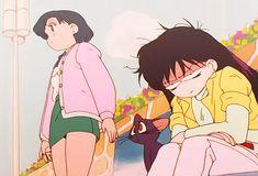 sailor moon - ami and rei Sailor Saturn, Sailor Moon Art, Sailor Mars, Sailor Moon Aesthetic, Aesthetic Anime, Old Anime, Manga Anime, Sailor Moon Outfit, Sailor Moon Screencaps