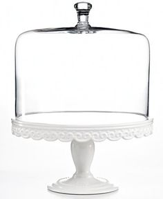 Martha Stewart Collection Serveware, Embossed Cake Stand with Dome   $108.00