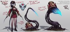 ArtStation - Bloodmoon Zyra Concept Sketches, Thomas Randby