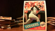 .TOPPS 1985 TERRY WHITFIELD CARD# 31 DODGERS