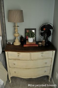Chalk painted dresser for a nightstand by The Painted Branch