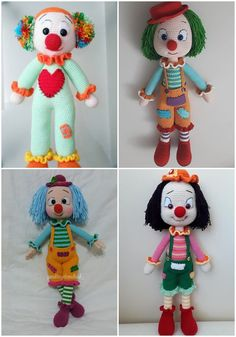 We continue to create new content for you every day. We brought together the amygicolites of cl Amigurumi Tutorial, Crochet Amigurumi Free Patterns, Crochet Dolls, Free Crochet, Make A Game, Polymer Clay Crafts, Crochet Animals, Clowns, Doll Toys