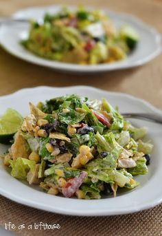 Southwest Chicken Chopped Salad - Life In The Lofthouse