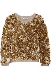 Burberry LondonSequined wool and cashmere-blend sweater