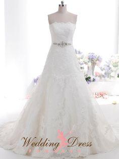 Beautiful Lace Wedding Dress by WeddingDressFantasy on Etsy #lace