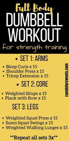 20 Minute Full Body Dumbbell Workout | 8 Dumbbell Exercises for Runners