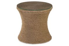 309 Small Rope Addie Side Table, Wheat