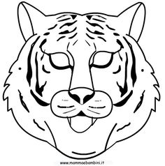 1000 images about coloring printable masks on pinterest for Immagini tigre da colorare