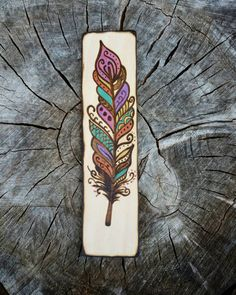 Check out this item in my Etsy: www.MarkedByMary.etsy.com !! • • • Feathers, feather bookmark, bookmarks, custom bookmark, wood bookmark, wooden bookmark, bookmarks, woodburn, bookstagram, book lover, book nerd,