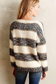 #anthrofave Confetti #Striped Pullover