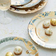 DIY mariage : décorer des assiettes de feuilles dorées - Marie Claire Idées