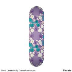 Shop Floral Lavender Skateboard created by Personalize it with photos & text or purchase as is! Flower Patterns, Flower Designs, Different Flowers, All Things Purple, Succulents Diy, Skateboard, Floral Design, Lavender, Art Pieces