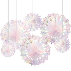 Christmas Party Supplies: Hang up these Iridescent Snowflake Decorations throughout the house to add some uniqueness to your Christmas party decor! These iridescent plastic decorations fold out in the. Diy Christmas Snowflakes, Snowflake Party, Beautiful Christmas Decorations, Snowflake Decorations, Christmas Party Decorations, Elegant Christmas, Xmas Party, Holiday Crafts, Holiday Decor