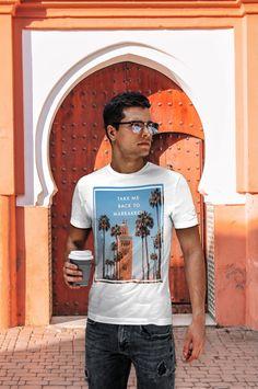 "T-shirt 100% coton ""Take me back to Marrakech"" - Disponible sur ==>  lepetitdromadaire.com Marrakech, Take My, T Shirt, Collection, Unisex, Man Women, Sleeve, Supreme T Shirt, Tee"