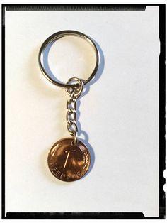 Schlüsselanhänger - Schlüsselanhänger 1 Pfennig, Glückspfennig - ein Designerstück von Astrid-Zauberstuebchen bei DaWanda