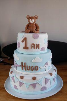 """Cake Design """"Gâteau d'anniversaire ourson """" par AnyS"""