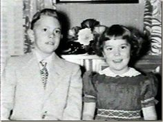 Singer/songwriter Richard Carpenter was born in 1946; his little sister Karen shown here with him would come along in 1950.
