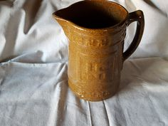 Antique Native American  Indian Pitcher Swastika Peace Symbol Salt Glaze Brown Collectible by ALONGWAYBACK on Etsy
