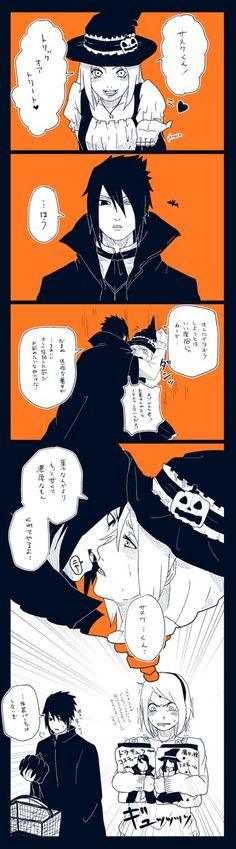 Immagine di sakura uchiha, Halloween, and sasusaku doujinshi