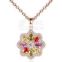 Barbara丨AAA Multicolor Cubic Zircon 18K Gold Plated Star Shape Pendants Necklaces