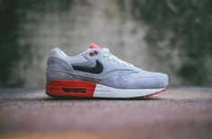 Nike Air Max 1 Premium 'Grey & Light Crimson