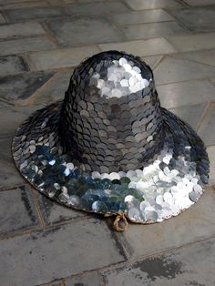 The Poetry of Material Things // Silver Sequin Hat