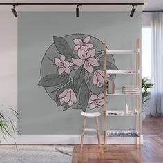 Beautiful sakura wall mural by on Wall Murals Bedroom, Mural Wall Art, Bedroom Decor, Wall Painting Decor, Wall Decor, Deco Cool, Home Room Design, Wall Design, Home Decor