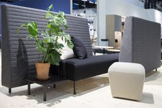 Sequenze sofa by Emiliana Design studio and Cirrus pillows and Cumulus pouf by Jonas Wagell for Mitab