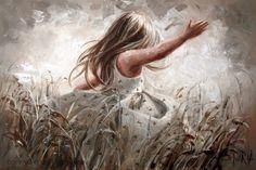 Draai in die wind by Maria Magdalena Oosthuizen Prophetic Art, Human Art, Illustrations, Christian Art, Painting For Kids, Beautiful Artwork, Art Boards, Canvas Art Prints, Watercolor Paintings