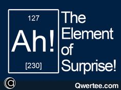 The Element of Surprise! | Qwertee : Limited Edition Cheap Daily T Shirts | Gone in 24 Hours | T-shirt Only £8/€10/$12 | Cool Graphic Funny Tee Shirts