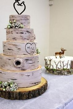 Rustic Wedding Cake by SarahT13