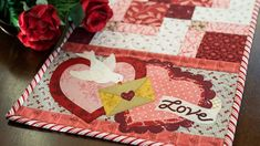 Easy Pieced Table Runner Series - February | a Shabby Fabrics Tutorial - YouTube