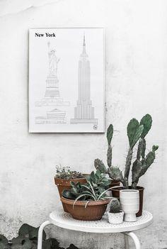 New York Landmarks - Studio Esinam | Poster from theposterclub.com