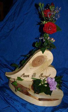 Blumenvasen aus Holz, Kreative Teelichthalter, Breite Auswahl an Gartensteckern - 9er´sche HOLZ- und SCHMUCK- WERKSTATT