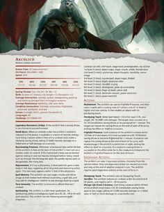 DnD 5e Homebrew — Dark Arts Player's Companion Monsters Part 1 by...