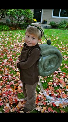 Snail with slime trail costume …