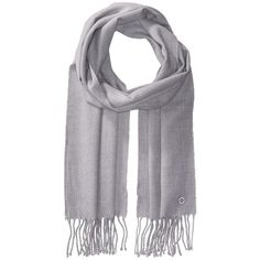 Calvin Klein Solid Woven Scarf (Heather Mid Gray) (840 CZK) ❤ liked on Polyvore featuring accessories, scarves, calvin klein, woven scarves, fringe shawl, wrap scarves and fringe scarves