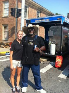 The third annual Kentucky State BBQ Festival brings some huge names into small Danville, Kentucky. Pictured above is Pitmaster Moe Cason from Ponderosa BBQ out of Des Monies, Iowa, and Magilicious. Danville Kentucky, Brisket, Iowa, Cool Words, Good Times, Barbecue, Feel Good, Third, Grilling