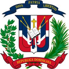 Coat of arms of the Dominican Republic. The Dominican Republic has the ninth largest economy in Latin America and the second largest economy in the Caribbean and Central American region. It is the second largest Caribbean nation (after Cuba), Haiti, Dominican Republic History, Greater Antilles, World Thinking Day, National Animal, Flags Of The World, Coat Of Arms, Herb, Caribbean
