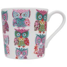 Owl print mug