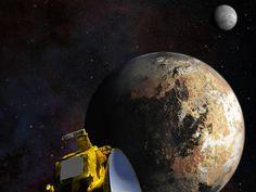 Pluto's Moon, Charon, Taken With Pluto (Background)