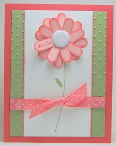 springy hello card