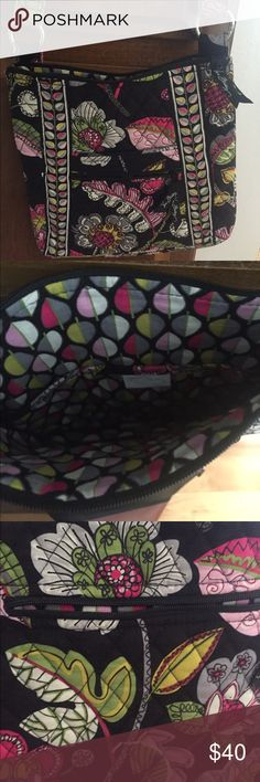 Vera Bradley cross body bag Super cute for Spring/summer. Barely used. Cross body strap is adjustable. Perfect for tablets and the usual purse items. Smoke and pet free home Vera Bradley Bags Crossbody Bags