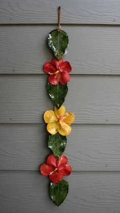 this article is not available - Dimensions: 33 x 5 (W x D) (inches) Superb favorite of all time. This handmade Lei brings from the - Clay Wall Art, Ceramic Wall Art, Mural Wall Art, Ceramic Painting, Pottery Sculpture, Sculpture Clay, Pottery Art, Clay Flowers, Ceramic Flowers