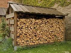 Low Carbon Cairngorms - Woodfuel - Storing and Stacking Outdoor Firewood Rack, Firewood Shed, Firewood Storage, Backyard Fort, Backyard Sheds, Log Shed, Log Store, Outside Storage, Carport Designs