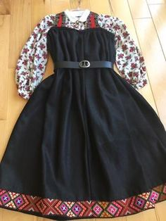 Image result for gudbrandsdalen rondastakk Traditional Outfits, Scandinavian, Folk, Vintage Outfits, Clothing, Skirts, Image, Fashion, Outfits