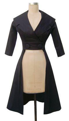 50's inspired trench coat trashy diva courtney coat dress true blood vampire jacket steampunk coat