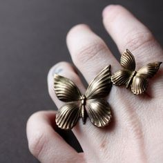 butterfly brass rings