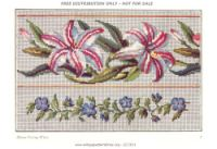 Gallery.ru / Фото #4 - 11 - kento Butterfly Embroidery, Cross Stitch Embroidery, Cross Stitches, Needlepoint Patterns, Stitch 2, Flowering Trees, Cross Stitch Flowers, Fabric Painting, Tatting