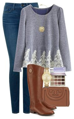 """""""Mom's in Hospital☹️"""" by red-velvet-n-pearls ❤ liked on Polyvore featuring NYDJ, Tory Burch, tarte, Chicwish, Kate Spade and La Prairie"""
